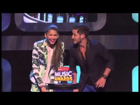 Zendaya & Val Chmerkovskiy Present at the Radio Disney Music Awards 2013