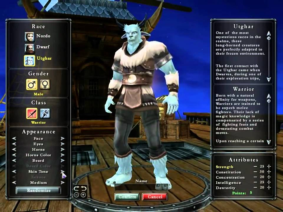 Realms Online Character Creation Youtube