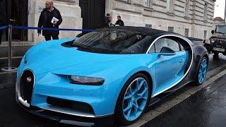 Bugatti chiron sound - cold start, revs & loading into truck
