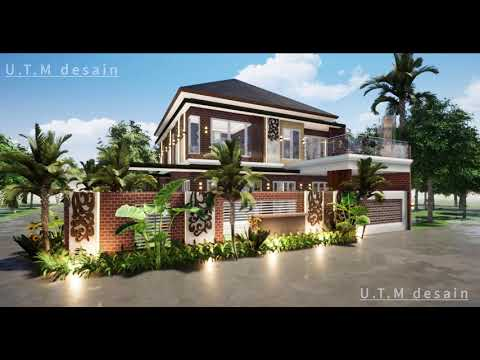 desain rumah minimalis modern tropis industrial 2 lantai