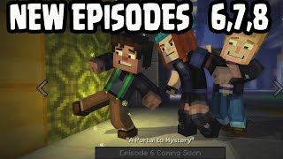 Minecraft: Story Mode EPISODE 6, EPISODE 7, EPISODE 8 - ALL 3 CONFIRMED Gameplay MENU