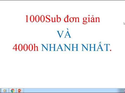 VIP YOUTUBE 1000sub + 4000h xem đơn giản