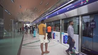 United Arab Emirates, Dubai, Metro ride from ADCB to BurJuman