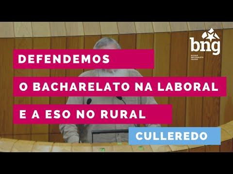 Defendemos no Parlamento o Bacharelato na Laboral e a ESO no rural