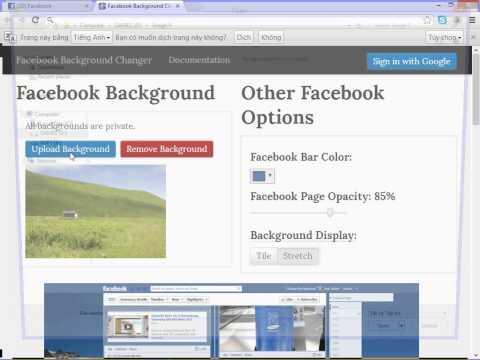 Cách đơn giản để thay đổi background Facebook