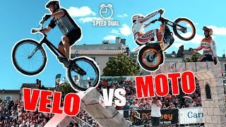 DÉFI MOTO vs VÉLO TRIAL (ft. Toni Bou, champion du Monde)