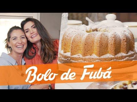 Receita Bolo de Fubá - com Isabella e Carol Fiorentino