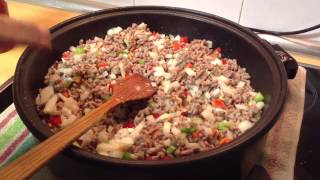 Receta de cocina fäcil de Carne picada con salsa de tomate