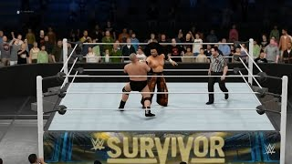PC世界摔角娛樂WWE 2K16 - 哈庫【Haku】Vs.巴姆巴姆畢格羅[強者生存'14][極限法則賽][30/9/'16]