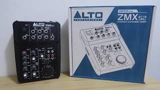 ALTO ZMX 52 UNBOXING | COMPACT 5 CHANNEL MIXER