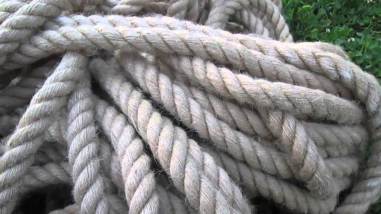 Джутовая веревка декоративная - YouTube
