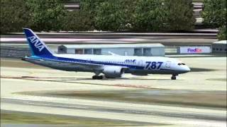 All Nippon Airlines arrives San Jose, California (FS2004)