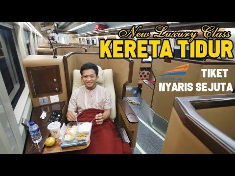 Naik KERETA API LUXURY SLEEPER SEAT | NYAMAAAN BANGET | Jakarta - Surabaya