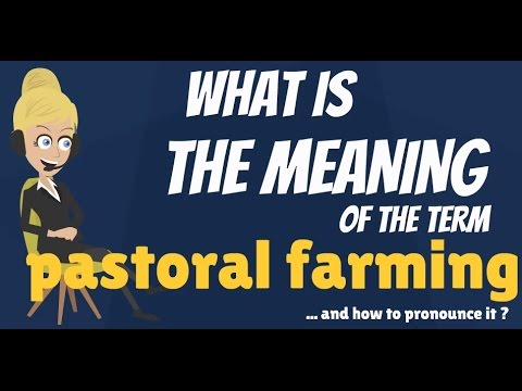 What is PASTORAL FARMING? What does PASTORAL FARMING mean? PASTORAL FARMING explanation