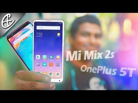 Xiaomi Mi MIX 2S vs OnePlus 5T Hands On Comparison!
