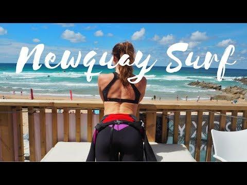 NEWQUAY SURF & YOGA TRAVEL DIARY! | ROXY TRIP!