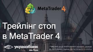 Трейлінг стоп в MetaTrader 4.  Форекс / Forex для початківців з АБ УКРГАЗБАНК