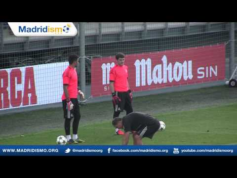 Iker Casillas & Real Madrid Goalkeepers, Training, Champions League, Real Madrid vs Manchester City
