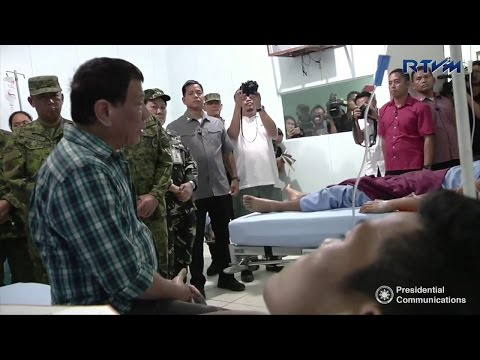 President Duterte visits soldiers wounded in NPA encounters