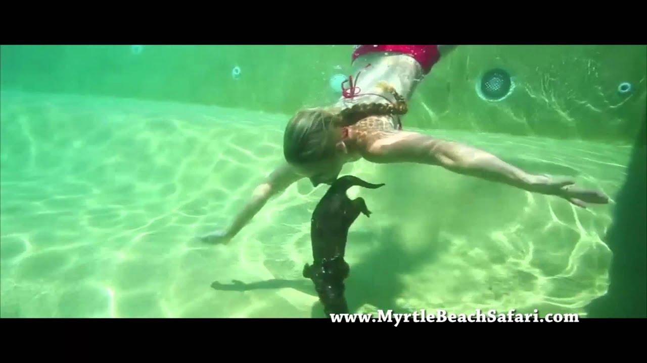 Tigers Swimming Is A L Otter Fun Myrtle Beach Safari