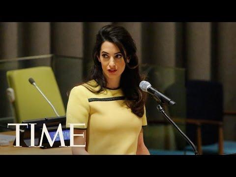Amal Clooney Urges The U.N. To Investigate...
