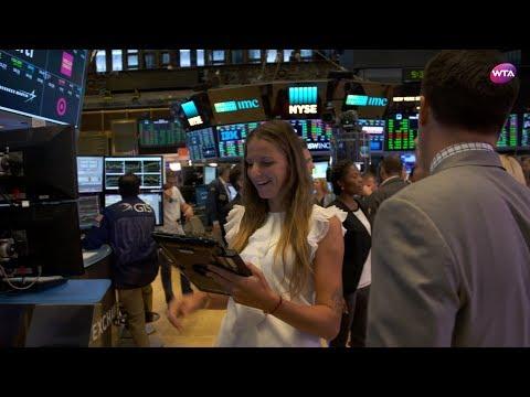 Karolina Pliskova at the NY Stock Exchange