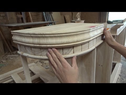 Amazing Woodworking Projects // Techniques to Create Lines For Curved Wood