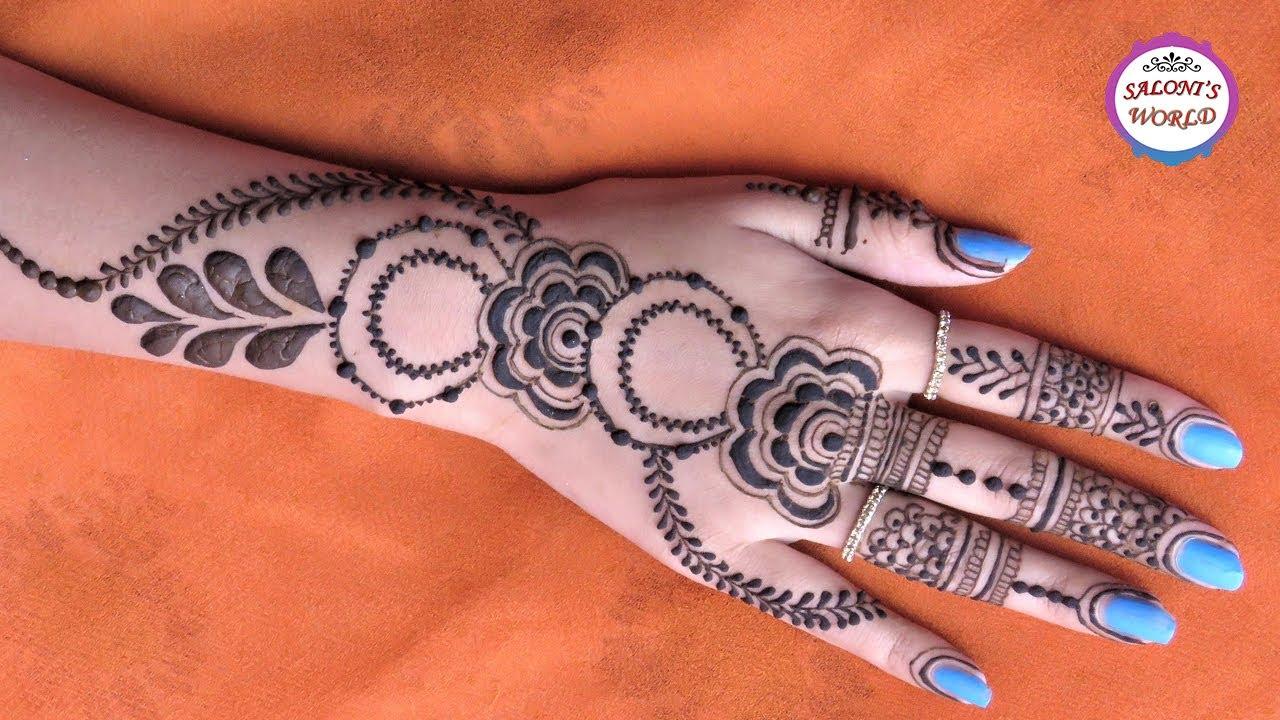 Henna Mehndi S : Latest gulf style henna easy arabic simple mehndi designs