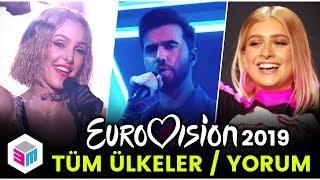 Eurovision 2019 - Tüm Ülkeler Performans Değerlendirmesi