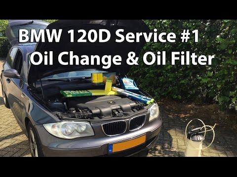 BMW 120D Service #1 Oil Change & Oil Filter
