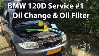 BMW 120D Service #1 Oil Change & Oil Filter