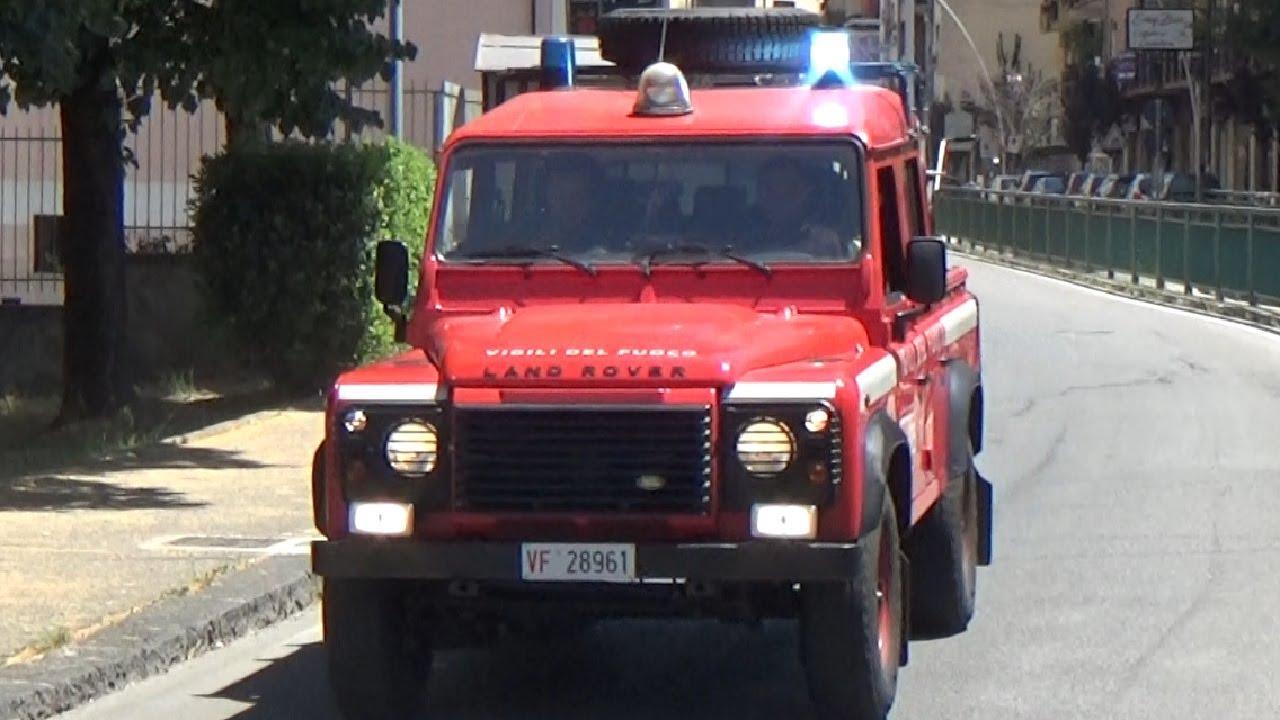 SPARE(Vigili del Fuoco/Fire Brigade)APS CityEuroFire+Defender 110 AIB VVF Rende in emergenza