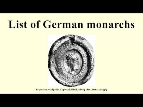 List of German monarchs