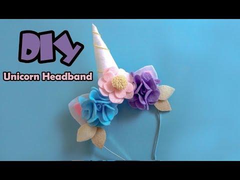 DIY tutorial cara membuat headband unicorn - Unicorn headband tutorial