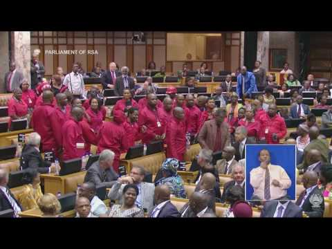 Another chaotic SONA. The EFF is ejected from parliament