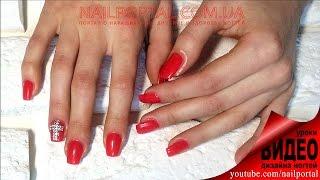 Дизайн ногтей гель-лак Shellac - Дизайн ногтей со стразами, видеоуроки дизайна ногтей