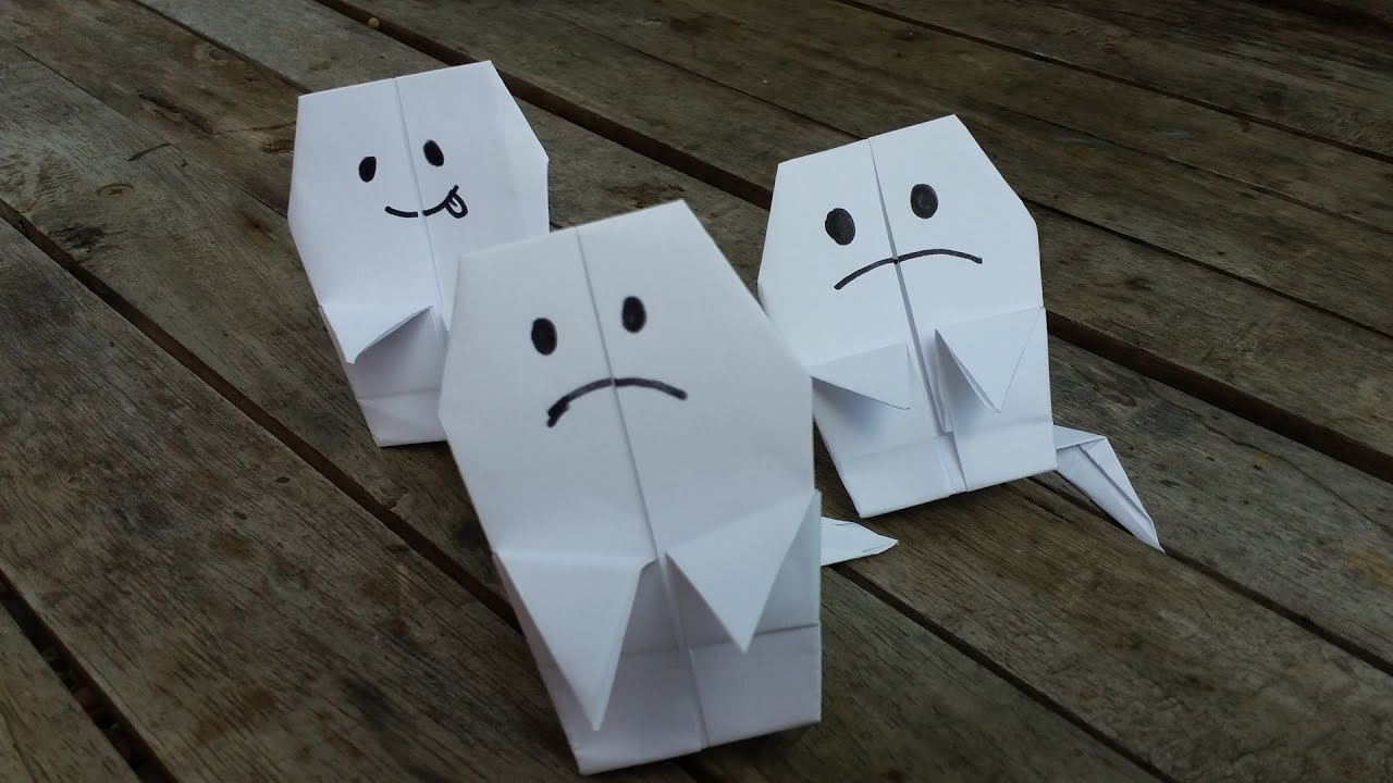 Halloween origami ghost youtube halloween origami ghost jeuxipadfo Choice Image