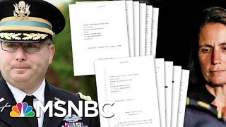 Transcripts Released From Witnesses To Key Flashpoints Of Ukraine Scandal | Deadline | MSNBC