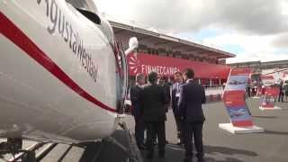 Farnborough Airshow 2014, i primi due AW109 Trekker a Elitaliana