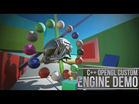 Custom C++ OpenGL Engine Demo (PBR, GLTF, Atmospheric Scattering, SSAO, Bloom...)