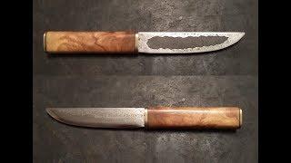 не ЯКУТСКИЙ НОЖ из МЕХПИЛЫ. Нож из быстрореза Своими Руками Р3М3Ф2 Yakut knife handwork HSS