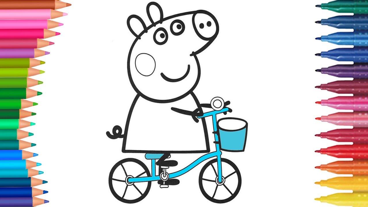 peppa pig  Świnka peppa i rower  małych rączek