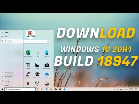 Windows 10 x64 Build 18947 (20H1) ISO Download File Now Available
