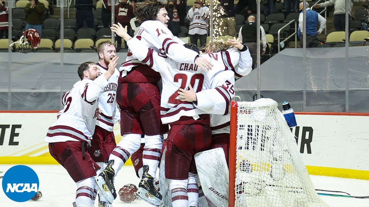 UMass hockey team gets champions welcome