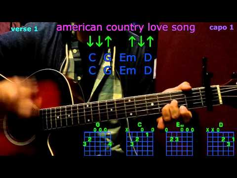 american country love song jake owen guitar chords
