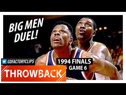 Hakeem Olajuwon vs Patrick Ewing GAME 6 Duel Highlights (1994 Finals) Rockets vs Knicks - CRAZY!