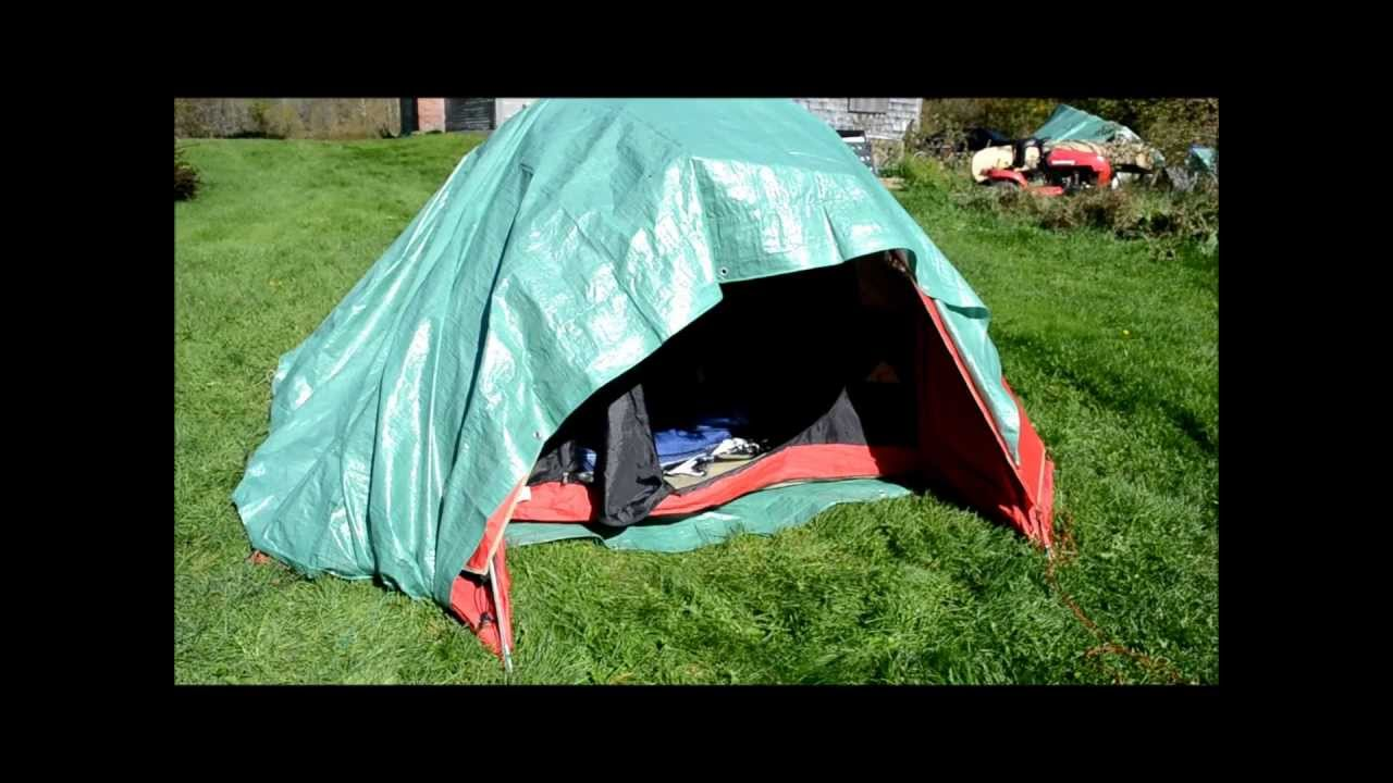 How to Winterize a summer tent to keep warmer in cold weather  sc 1 st  YouTube & How to Winterize a summer tent to keep warmer in cold weather ...