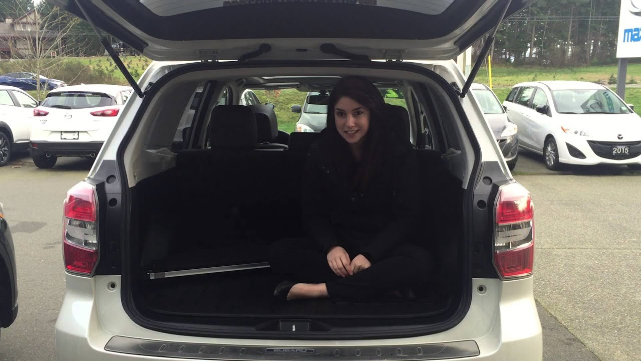 Mazda 3 Cargo Space Dimensions >> Cargo Space of the Subaru - YouTube