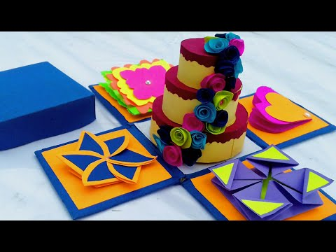how to make explosion box ; how to make friendship day explosion box,explosion box for rakshabandhan