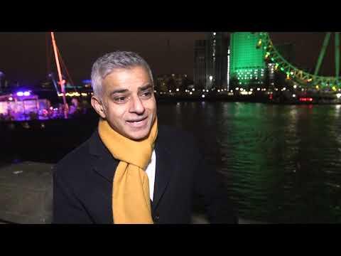 Sadiq Khan praises EU citizens ahead of New Year's Eve fireworks